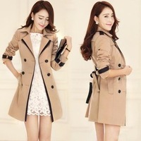 2013 Hitz women's clothing fashion ladies casual luxury Slim was thin windbreaker jacket camel