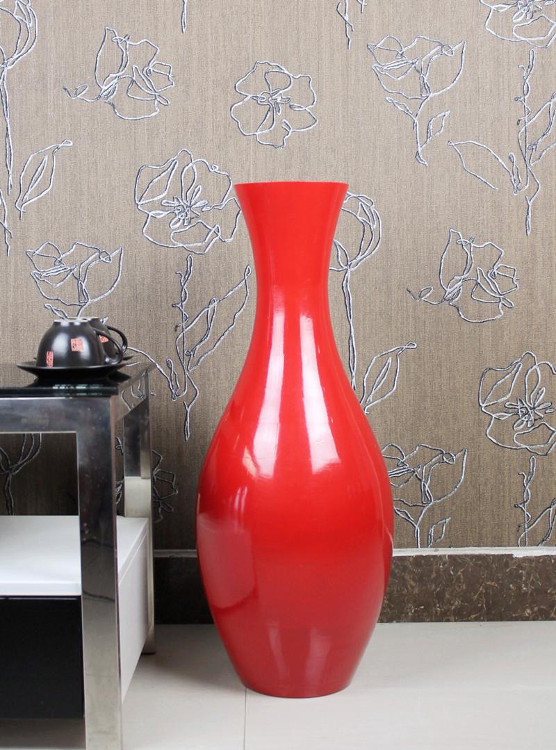 Floor vase brief fashion wool red home decoration antique vase(China (Mainland))