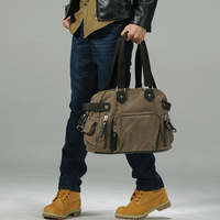 male canvas bag handbag shoulder bag travel bag