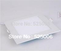 Square 4w 6w 9w 12w 15w 18w 24W Downlight Super Thin LED Panel Light Nature White/Warm /Cool white Down Light Free shipping 3w