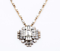 2013 Vintage Criss Cystal Pendant Necklace Design Jewelry Free Shipping (Min Order $20 Can Mix)