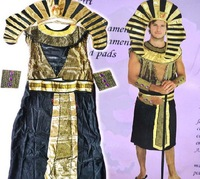 Free Shipping Fashion Joke Cosplay Show Party Halloween Punk Gothic Clothing Adults Egyptian Pharaoh Six Sets Cheap