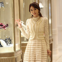2013 Hitz Korean version of cultivating wild temperament female clothing fashion luxury lace jacket