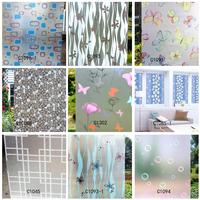 Free shipping 4pcs/lot 0.5m Glass stickers scrub glass film transparent bathroom window sliding door insulation film