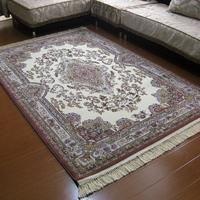 Bamboo carpet quality flower thick silk carpet dt025