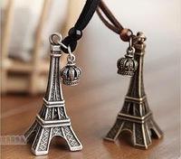 Free shipping! Fashion Vintage long design necklace Eiffel Tower