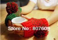 New Fashion Skin care Fingerless Mitten Gloves women's braided knit warmer fingerless gloves many color