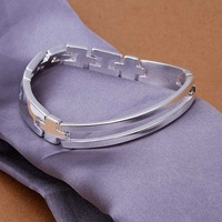 Hot Sell!Wholesale Sterling 925 Silver Bracelet,925 Silver Fashion Jewelry,Two Wire Strap Bracelet SMTH315