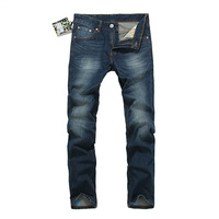 Free shipping 2013 winter new Japanese tide brand jeans dark blue jeans AAPE influx of men and straight trousers in the waist