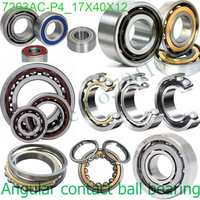 17mm diameter Angular contact ball bearings 7203 AC/P4 17mmX40mmX12mm,Contact angle 25,ABEC-7 Machine tool axis,AUTO,Reducer