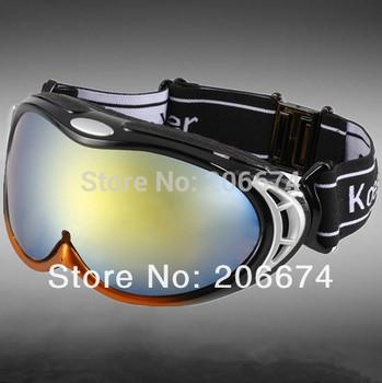 NEW Unisex UV Protection Anti-Fog Sports Ski Goggles (Black) +free shipping