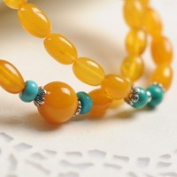 Stone offer 's top beeswax multi-circle Women bracelets turquoise bracelet