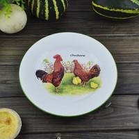 Ceramic rustic hen chick dish snack tray plate
