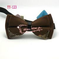 Brown/Deep Khaiki,Double Layer,Mens Wedding Adjustable Pre-tied fashion Groom Neck Bowties tie Men's Cheap Bow Ties For Men,YY22
