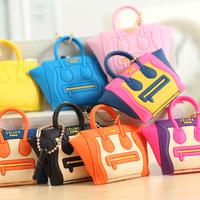1pcs/lot Smiley bag blythe small cloth bag handbag  for iphone   mobile phone dust plug keychain Free Shipping Drop Shipping