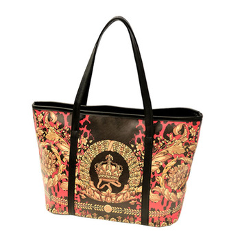 Designer Inspired PU LEATHER Medium Hobo Shoulder Bag woman printed handbags gold crown printing tote bags