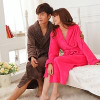 Ultra long paragraph coral fleece bathrobe lovers nightgown women's sleepwear lounge