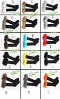 Macrotrichia Women roll up hem snow autumn and winter sock boot covers socks fur ankle sock knee-high socks