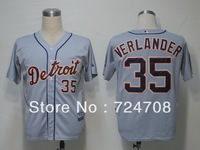 Wholesale baseball jersey Detroit Tigers 35 Justin Verlander jersey,Embroidery Logo Cool Base jersey,size 48-56