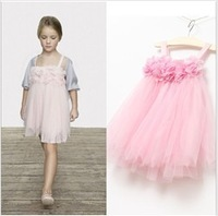 Retail 1pcs/lot, 2013 Boutique foreign trade girls Petals lace tutu dress,free shippingGirl Dress