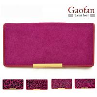 2014 free shipping genuine leather horsehair women's long design wallet clutch women's handbag