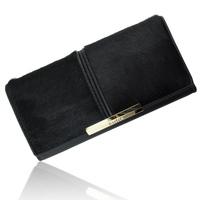 2014 free shipping women's handbag cowhide wallet articulationes horsehair women's long design genuine leather wallets