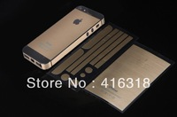HOT Tyrant gold Screen Protector for iPhone 5 5G 5S stickers shell modified gold 5S turned Tyrant Free Shipping