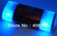 Free shipping 10pcs Original Hi-Rice 20pcs SD-508 Portable Mental case Speaker+ LED diaplay+FM+Alarm Clock+blue flash+REC