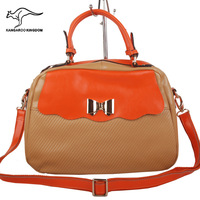 Australia kangaroo women's oil leather handbag portable single shoulder bag genuine leather genuine leather sandwich bags 0071