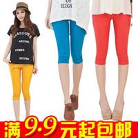 Min.order is $10(mix order) E9179 mix match sweet candy color legging viscose fabric capris legging