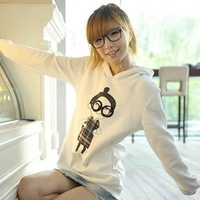 2013 autumn women's cartoon long-sleeve shirt female basic sweatshirt outerwear