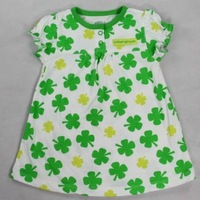 Promotion! Special Offer All cotton Carter's baby girls dress kids green flower dress Summer infant clothing Free Shipping