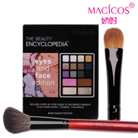 Beauty make-up set 12 eye shadow powder blush 2 concealer cream cosmetic brush 2