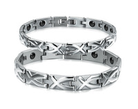 Titanium Stainless Steel Trendy Health Jewelry Indian Magnetic Bracelet And Bangle For Couple Men Womens Love With FIR