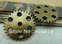 Min.order is $8(mix order)20pcs Vintage Pendant,Antique Bronze Gear Charms,Antique Connector Findings 25mm,Free Shipping c6116