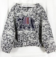 Euro Fashion Style Popular Embroidery Elephant Long Sleeve Sweatshirt Women Elegant Charming Sweatershirt