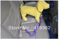 Free Shipping 2013 Lefdy New 4 Colour Strong pet/Dog Car Travel Seat Belt Clip Lead Restraint Harness Auto traction leads