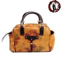Nihil 2012 genuine leather bag tote bag vintage handbag print bag female bags
