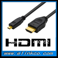 High Quality 1.8M Micro HDMI to HDMI cable 6ft Type A to D for smart cell phone Monitor cable for HDTV