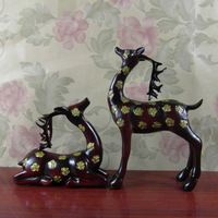 Sika deer antique one pair of resin craft home decoration lovers wedding gift