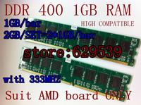 Hot  DDR 400 4GB(4*1GB/Bar) ,2GB(2*1GB/bar),1GB RAM  PC3200 non-ecc Desktop Memory ram 1024 mb ddr 400 184-pin RAM for AMD board