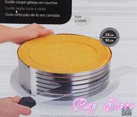 Retractable stainless steel cake ring circle mousse ring baking tool set cake mould size adjustable 24-30cm bakeware K1046