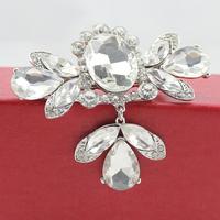 New Pretty Rhinestone Hair Clip Wedding Bridal Tiara Silver White Free Shipping