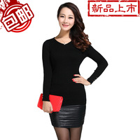 Women's sweater autumn and winter sweater slim basic cashmere long-sleeve shirt