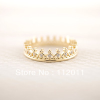$10 free shipping 2014 Fashion Jewelry Cz Crown Rings Finger wedding