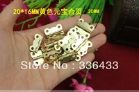 20 * 16MM hinge ingot small wooden wine lace butterfly hinge flat
