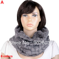 Free Shipping ,Hot Selling New Arrivals 2013 Winter Women Warm Faux Rabbit Fur Circle of Scarf For Christmas Gift Scarf ,NL-2131