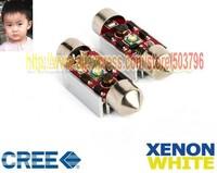Free Shipping 2pcs 36mm 39mm 42mm CREE LED Error Free Canbus Number Plate Light For audi a4 b6 audi a4 b5 ix35 hyundai bmw m5
