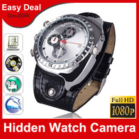 Full HD1080P Waterproof Watch Camera 4GB 8GB 16GB With Motion Detection Night Vision Hidden Camera Mini DVR Free Shipping