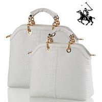 2014 Promot Brand Women Messenger Bag Handbags POLO Vintage Genuine PU Leather Crocodile Print women's shoulder bag Totes Bolsas